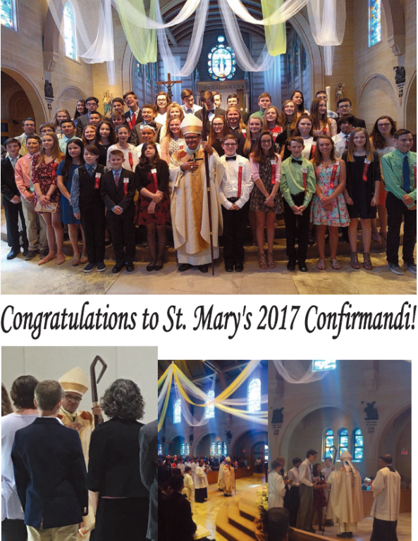 St. Mary Catholic Community Downtown Royal Oak 2017 Confirmandi