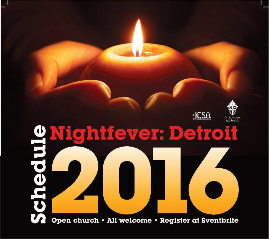 St. Mary Catholic Community Downtown Royal Oak NightFever 2016 at St. Mary