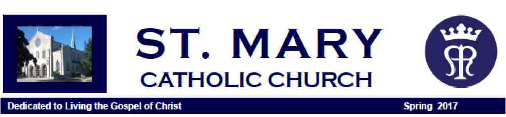 St. Mary Catholic Community Downtown Royal Oak Spring Parish Newsletter 2017