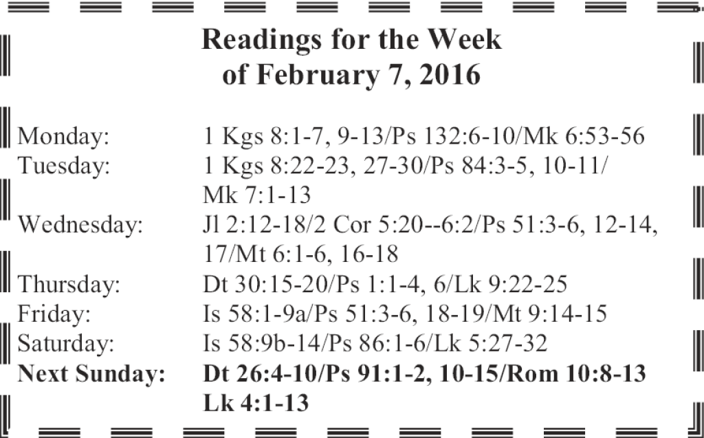 St. Mary Catholic Community Downtown Royal Oak Weekly Scripture Readings