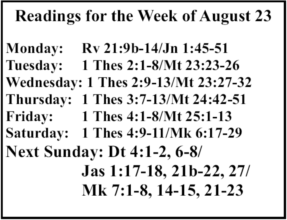 St. Mary Catholic Community Downtown Royal Oak Weekly Scripture Reading