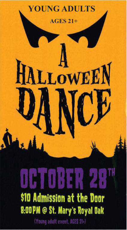 St. Mary Catholic Community Downtown Royal Oak Young Adult Halloween Dance 2017