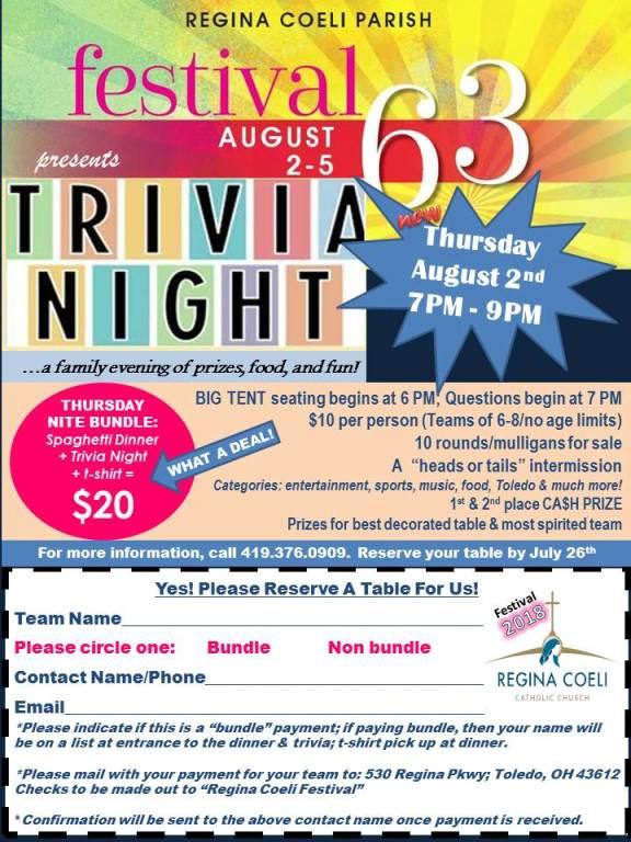 Trivia Night Registration