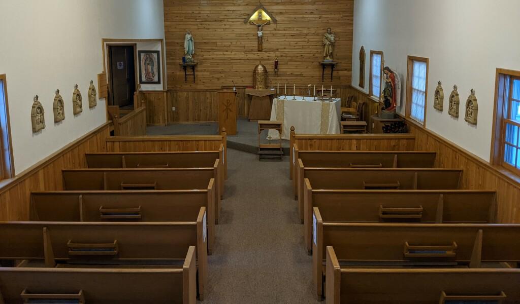interior catholic church northome