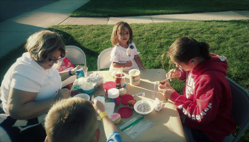 Cupcake table at the Picnic