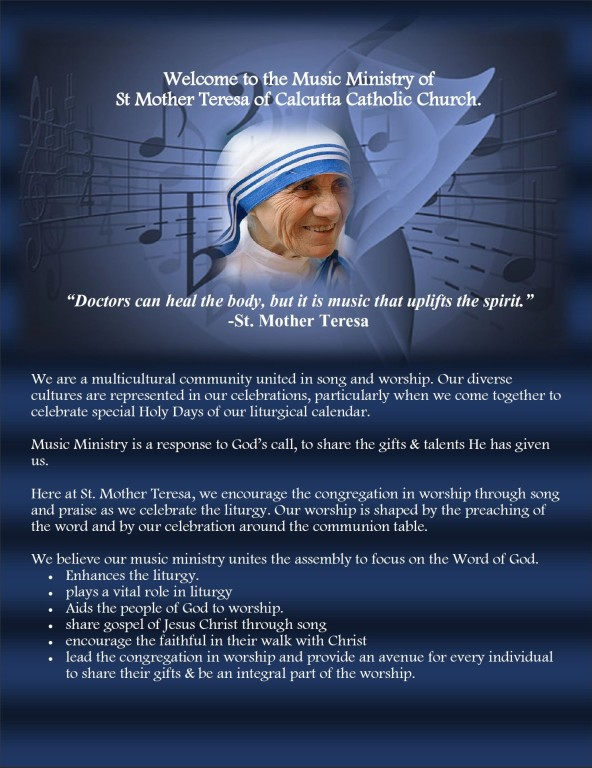 Music Ministry | St  Mother Teresa of Calcutta Church