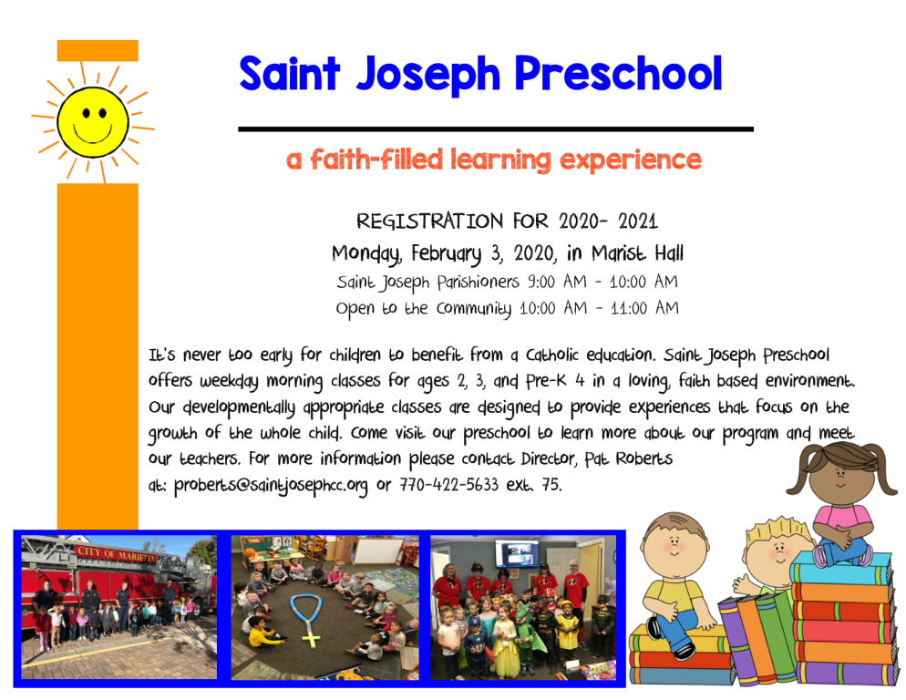 Preschool Registration Info