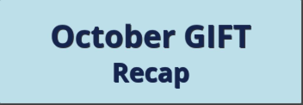 Oct Recap