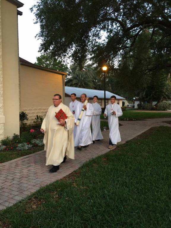 Easter vigil procession