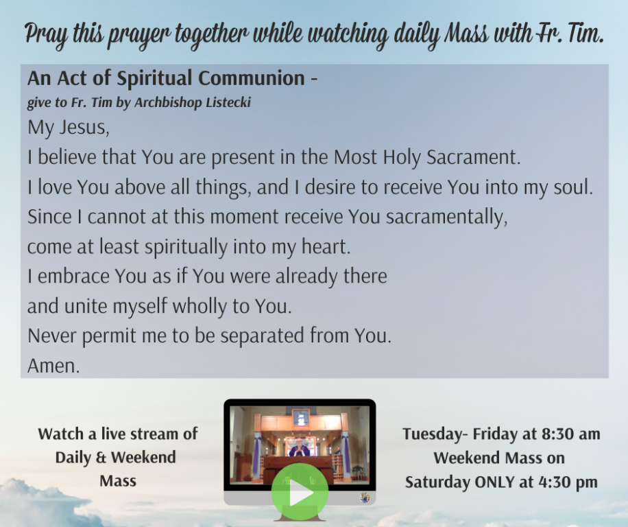 Pray with Fr. Tim