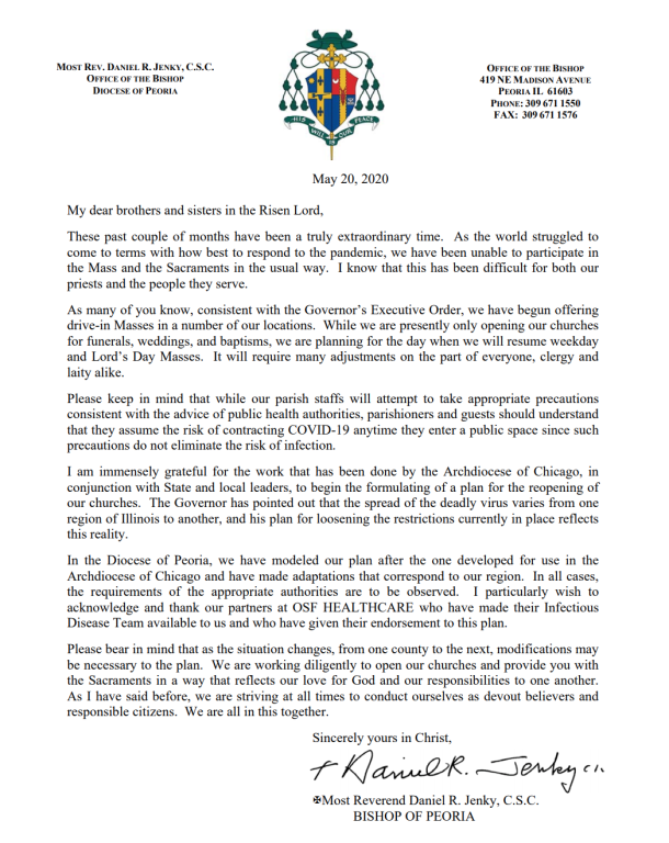 Letter from Bishop Jenky 05202020