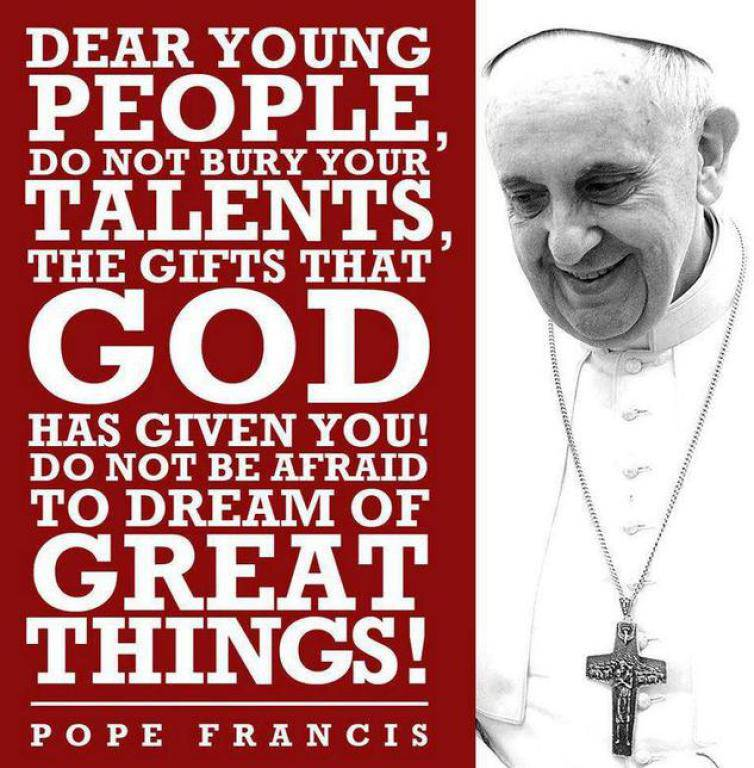 Pope Francis Quote to Youth