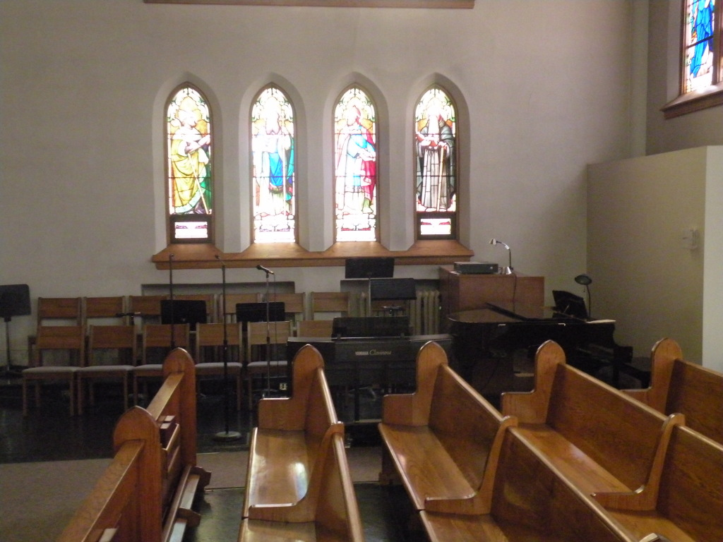 Music area in church