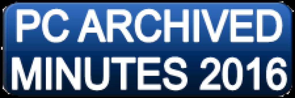Pastoral Council Minutes 2016 Button