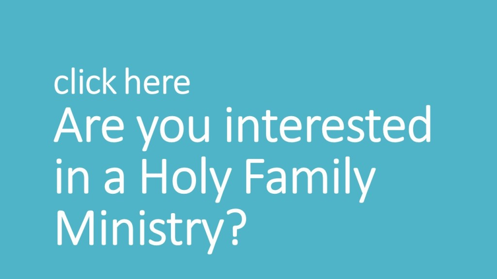 Are you interested in a Holy Family Ministry