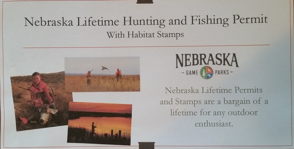 823 Nebraska Lifetime Hunting Fishing Habitat Stamp