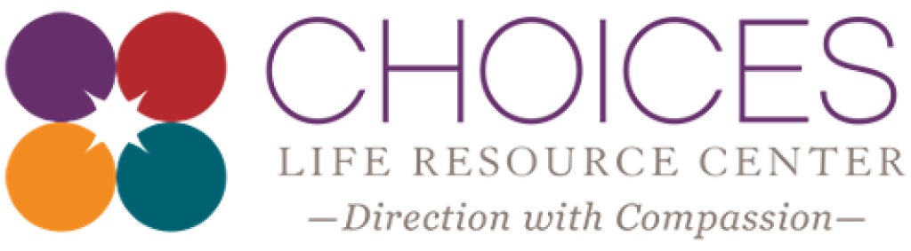 Choices Life Resources logo with tagline Direction with Compassion