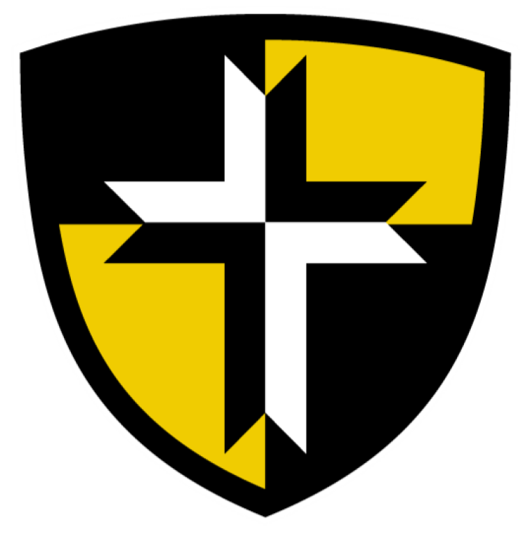 Crest shield used for the St. Wendelin Educational Foundation logo