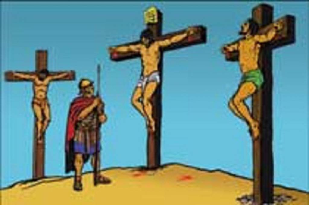 Where was joseph when jesus was being crucified