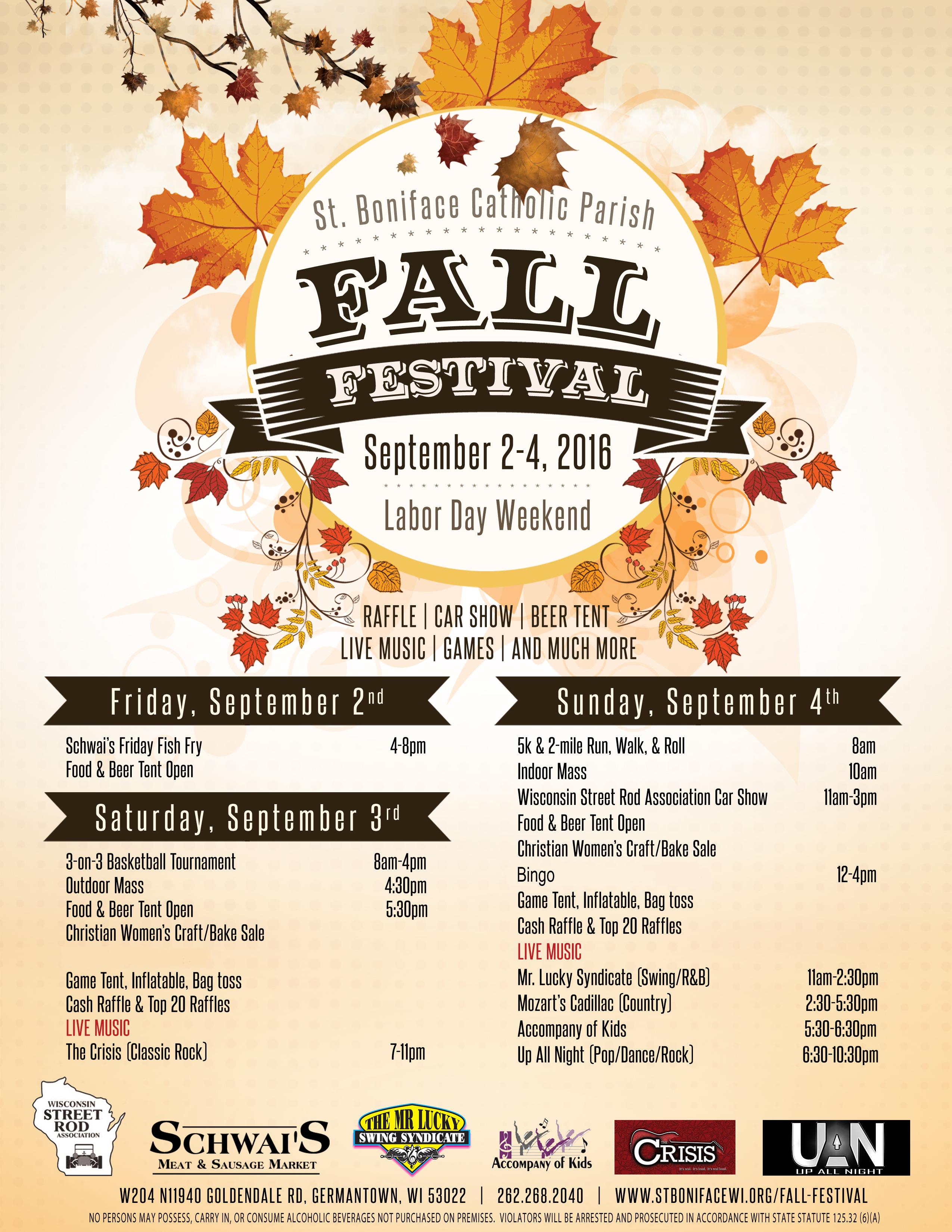 Fall Festival | St Boniface Catholic Parish